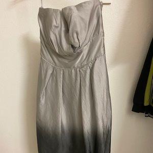 Silver Ombré Cocktail Dress